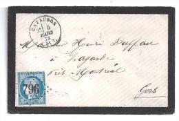 GERS - G.C. 796  Et Cachet Type 16  De  CAZAUBON - Marcophilie (Lettres)