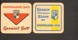 """Bierdeckel Stadtbrauerei Roth  R: """"Kenner Bevorzugen Biere..."""" - Sous-bocks"""