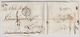 Frankreich, 1846, Marseille, Forwarded - Brief , #3256 - Marcofilia (sobres)