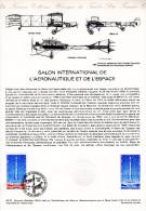 """"""" SALON DE L'AERONAUTIQUE ET DE L'ESPACE """" Sur Document Philatélique Officiel De 1979. N° YT PA 52. - Postdokumente"""