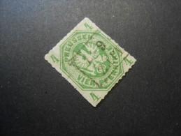 Altdeutschland (Preussen)  Mi 14b  Dunkelolivgrün  - 4Pf  1864 - Prussia