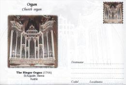 Enveloppe Illustrée ORGUE ORGAN ORGEL ORGANO : Church Organ The Rieger Organ (1766) ST Augustin Vienna Austria Österreic - Music