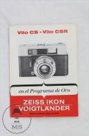Vito CS - Vito CSR - Zeiss Ikon Voigtländer Camera - User Manual - Spanish Edition - Photographie