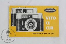 Vito CL CLR - Zeiss Ikon Voigtländer Vintage Camera - User Manual - Spanish Edition - Photographie