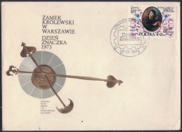 FG166    POLAND,POLONIA  FDC 1973 STAMP DAY COPERNICUS ROYAL CASTLE WARSAW - Astronomy, Art, Science - FDC