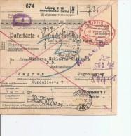 Yougoslavie ( Récipissé De Bulletin D'expédition De 1937 à Voir) - 1931-1941 Kingdom Of Yugoslavia