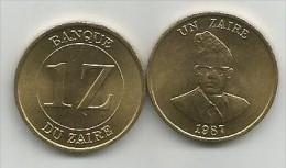 Zaire 1 Un Zaire 1987. UNC - Zaïre (1971-97)
