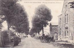Vaux-lez-Rosièes  Passage  Circuit Des Ardennes Attelage Bien Animé Circulé En 1908 - Vaux-sur-Sûre