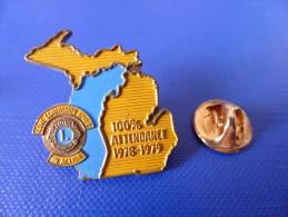 Pin's Lions Club International - 100% Attendance - 1978 1979 (YB57) - Associations
