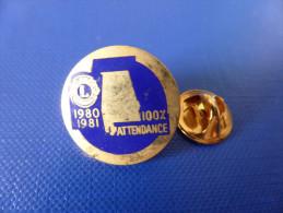Pin's Lions Club International - 100% Attendance - 1980 1981 (YB54) - Associations