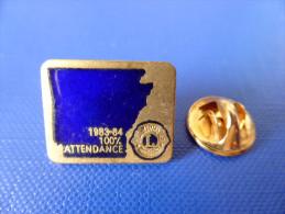Pin's Lions Club International - 100% Attendance - 1983 1984 (YB53) - Associations