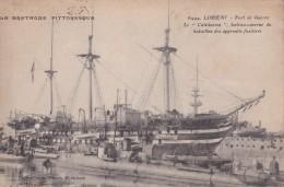 """Carte 1915 LORIENT / Port De Guerre """"le Calédonien""""  Bateau -caserne Du Bataillon Des Apprentis Fusiliers (voilier) - Lorient"""