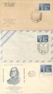 INVENTOR SCIENTIST BENJAMIN FRANKLIN 1706-1956 250 ANIVERSARIO DE SU NACIMIENTO ARGENTINA 1956 FDC FIRST DAY OF ISSUE