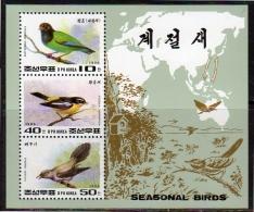 Birds 1996 MNH Block Korea (k387) - Unclassified