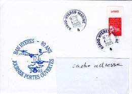 80 Ans De La BAN HYERES - Journée Portes Ouvertes Obl Hyères Marine 04/06/05 - Marcophilie (Lettres)