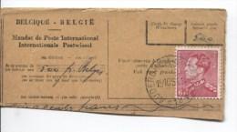 TP 848a Poortman Cylindre Retouché S/Fragment De Mandat Poste International C.Auderghem 15/10/1951 242 - Belgium