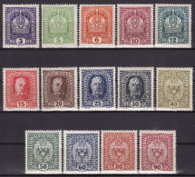 AUSTRIA 1916. MH, Mi 185/98