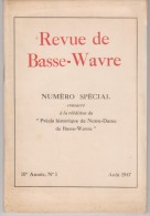 Basse-Wavre  N° Spécial   1947 - Cultural