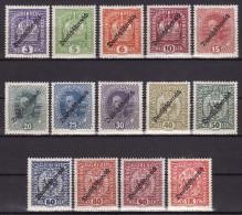 AUSTRIA 1918. MH, Lot VF