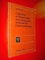 Collection Of Tibetan MSS And Xylographs Of Alexander Csoma De Körös  Jozsef Terjék  1976  Tibet Art Linguistique - Books, Magazines, Comics