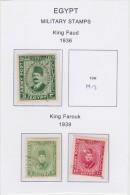 1936-1939 Military Stamps   Scott M12, M14-M15  Used             347 - Egitto