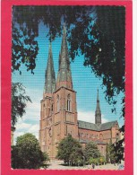 The Cathedral,Domkyrkan,Uppsala,Uppsala County, Sweden,Posted With Stamp, L26. - Svezia