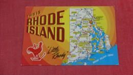 - Rhode Island  Map  Little Rhody   -- -----  ref 1940