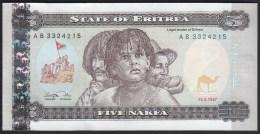 Eritrea 5 Nafka 1997 P2 UNC - Erythrée