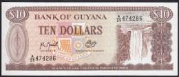 Guyana 10 Dollar 1992 P23f UNC - Guyana