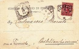 COMIZIO AGRARIO DI PIACENZA  VIAGGIATA 1899