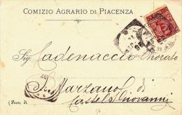 COMIZIO AGRARIO DI PIACENZA  VIAGGIATA 1902