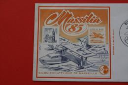 BLOC N* 6 C.N.E.P MASSILIA 85 SALON PHILATELIQUE DE MARSEILLE 2 MARS 1985+TIMBRE MARSEILLE>CONCORDANCE Non Dentelé C/40€ - CNEP