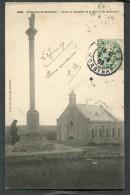 CPA - Karten Bost - Presqu´Ile De QUIBERON - Croix Et Chapelle De La Pointe De Begreville, Animé  (dos Non Divisé) - Quiberon