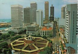 SINGAPORE 'S  COMMERCIAL CENTRE  AT SHANTON  WAY       (VIAGGIATA) - Singapore