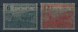 SBZ Provinz Sachsen Michel No. 90 - 91 Y ** postfrisch