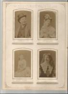 "ROCHEFORT (17) 4 DES INTERPRETES DE LA PIECE ""LE JAPONAIS"" 1888 (HELLOUIN MME DASVEDA MLLE DEBLEE ET DUC) - Personalidades Famosas"