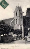 77 - LE MÉE-SUR-SEINE - L'Église - Très Animée - Photo-Émail BREGER - Le Mee Sur Seine