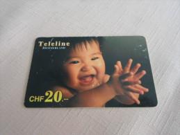 SWITZERLAND - RARE prepaid phonecard teleline