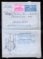 Aérogramme Exportation Avec Complément Timbre Bateau (773)   De Ath Vers Buenos- Aires - Belgique