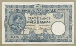 BELGIUM - 100 Francs  1927  P102  Very Choice EF  ( Banknotes ) - [ 2] 1831-... : Royaume De Belgique