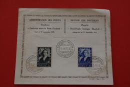 15/9/1937 TIMBRES ZEGELS ADMINISTRATION DES POSTES FONDATION MUSICALE REINE ELISABETH FDC 1ER JOUR EMISSION  MUZIEKFONDS - FDC