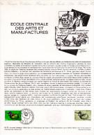 """1979 """" ECOLE CENTRALE DES ARTS ET MANUFACTURES """" Sur Document Officiel 1°Jour N° YT 2066. Parfait état ! DPO - Documents De La Poste"""