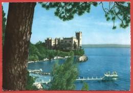 CARTOLINA VG ITALIA - TRIESTE - Il Castello Di Miramare - 10 X 15 - ANN. 1956 - Trieste