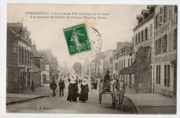 S1623 @ 29 @ CONCARNEAU @ BELLE CPA : LA GRANDE RUE MONTANT DE LA GARE @ A VOIR - Concarneau