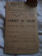Carnet De Solde De L´armée De L´air VOIR LES PHOTOS - Lettres De Change