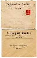 Lettre, Enveloppe Et Dépliant : La Prospérité Familiale, Assurances Mutuelles, Paris - Banque & Assurance