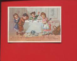 PARIS VICTOR PEROT  VAISSELLE SERVICE TABLE DESSERT  MENAGES DINETTE ENFANT CHROMO IMP CAPITAINE - Trade Cards