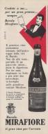 # VINO BAROLO MIRAFIORE 1950s Advert Pubblicità Publicitè Reklame Food Drink Vino Wine Vin Wein Vinho - Manifesti
