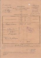 Requisition Chevaux 59  , Juments  Etc ... Service Militaire - Subdivision Cambrai - Le Cateau -1939- Doc Abimé - Decrees & Laws