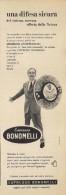 # CAMOMILLA BONOMELLI 1950s Advert Pubblicità Publicitè Publicidad Reklame Food Chamomile Tea - Manifesti